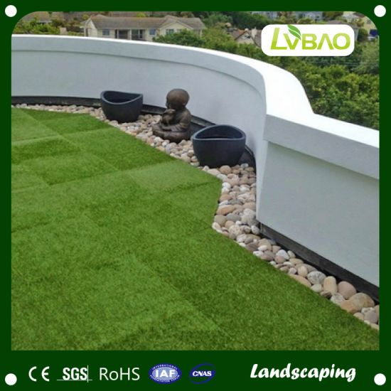 DIY Interlocking Synthetic Turf Durable UV-Resistance Commercial Strong Yarn School Comfortable Fake Artificial Turf Grass Tile